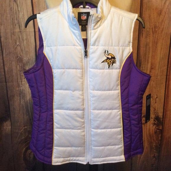 new arrival 0d364 4a2cf Minnesota Vikings women's puffer vest, NWT NWT